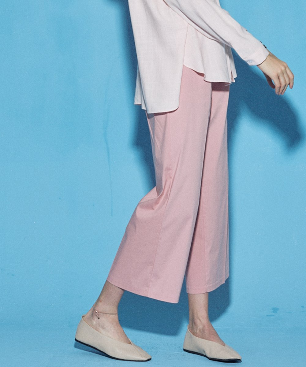 SUMMER WIDE COTTON PANTS_PINK